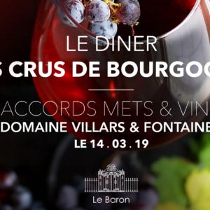 Menu crus Bourgogne
